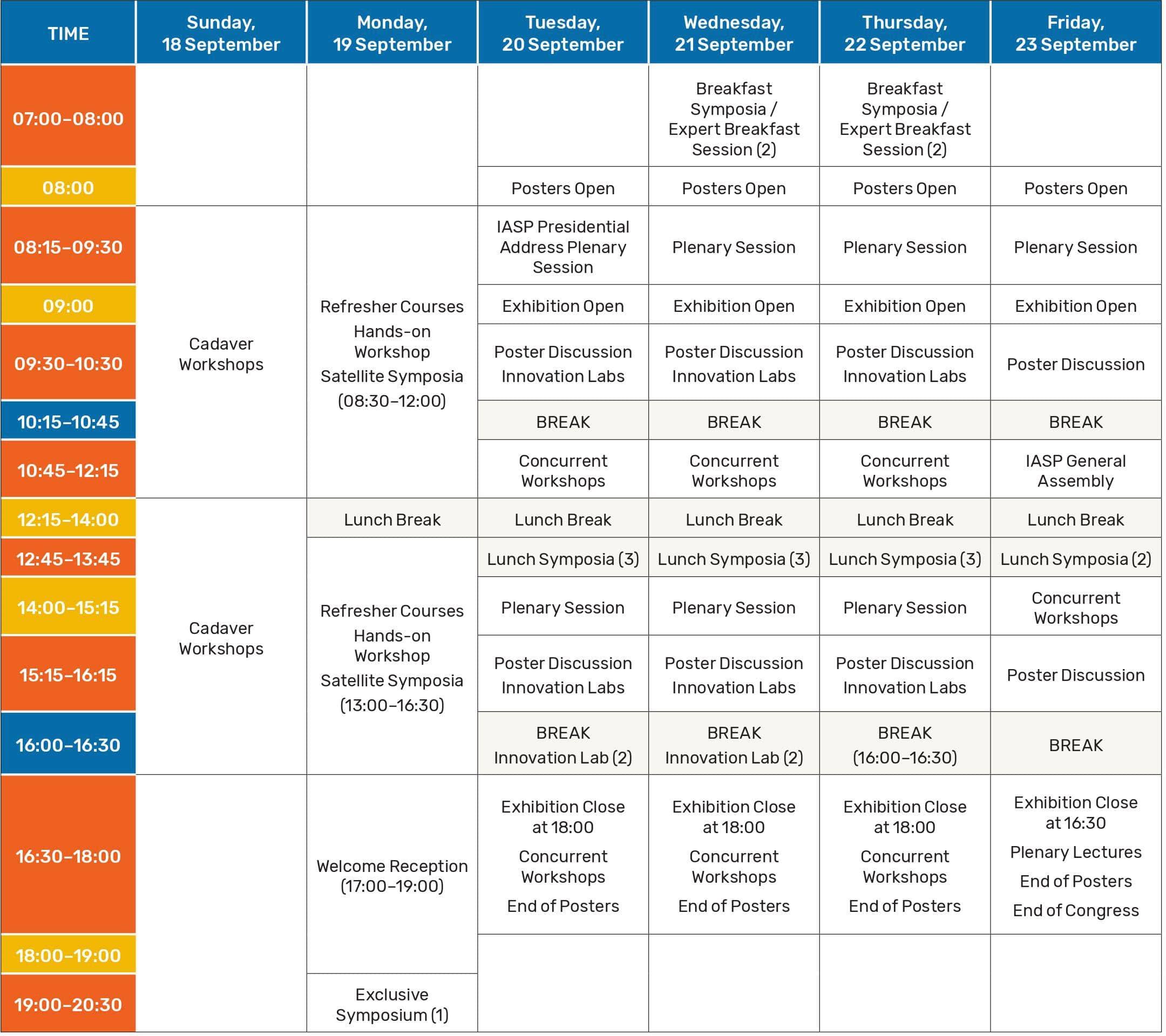 WorldCongressonPain2022-ScheduleAtAGlance